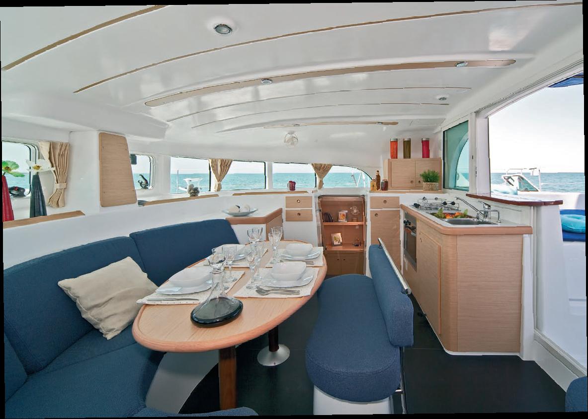 Lagoon 380 interior
